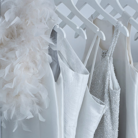 Jane Summers Little White Wedding Dress Collection with feathers, sequins and crystal embellishments
