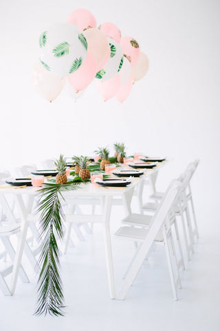 Studio DIY Tropical Dinner Party Decor See Jane Plan Jane Summers Blog