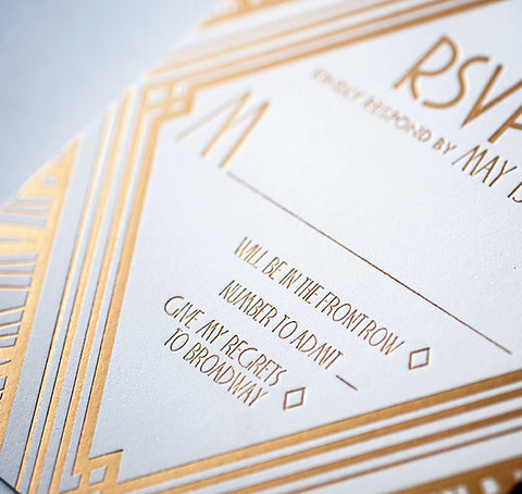 Ellington Art Deco invitations from Atelier Isabey