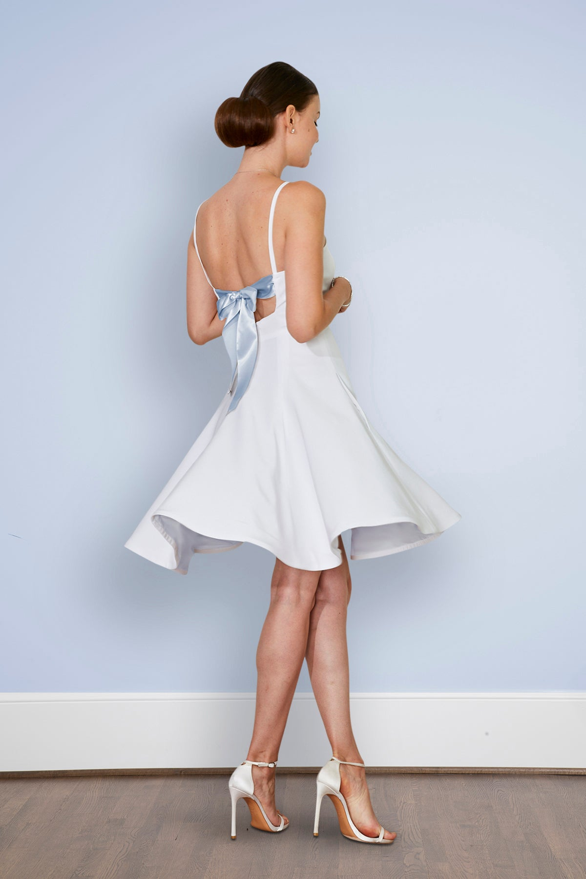 Isabella Backless Little White Dress and Wedding Reception Dress ...