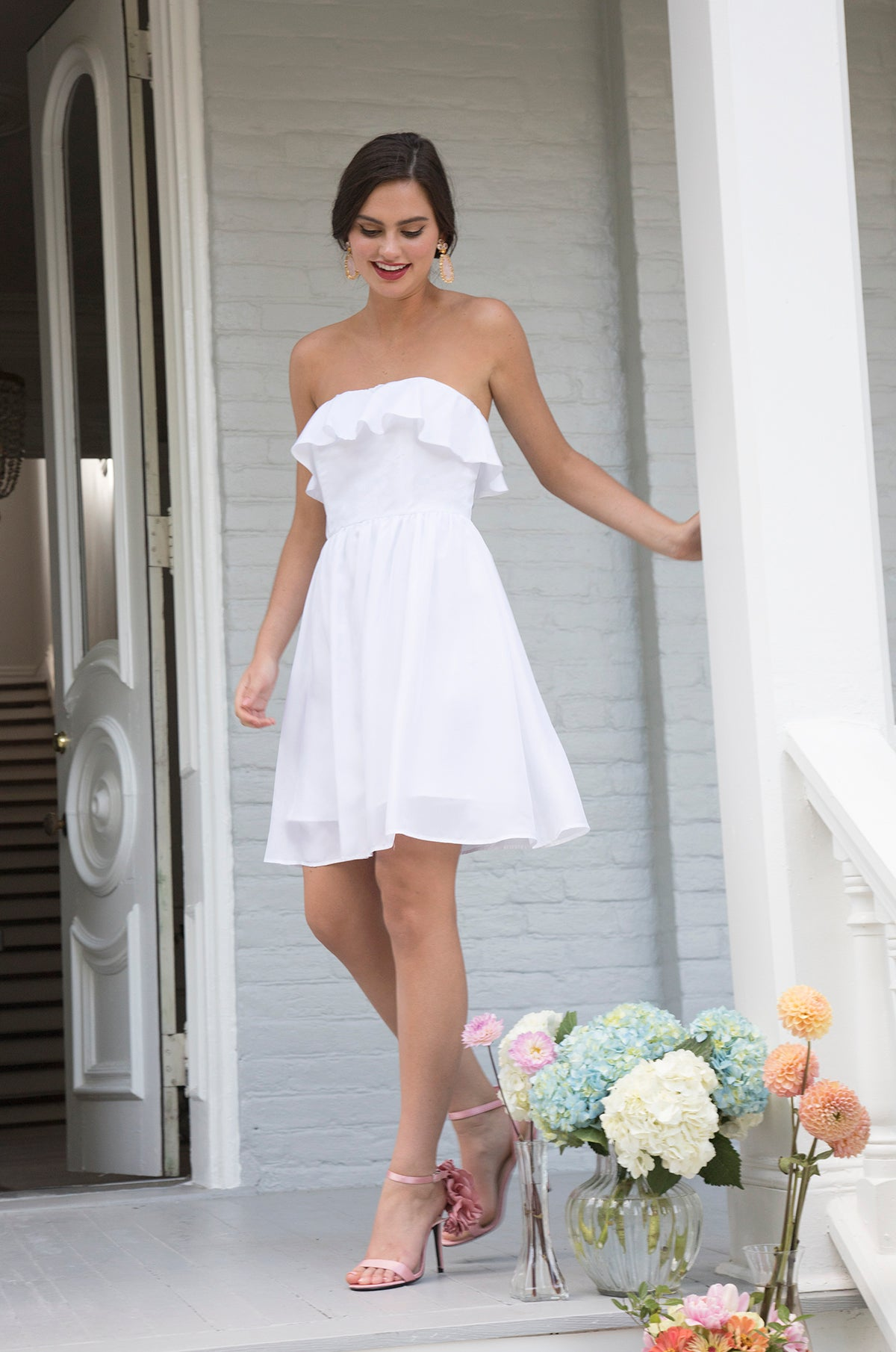 Destination Wedding Dresses.James Flowy Casual Chic Bachelorette Party Destination Wedding Dress