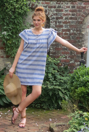 chambray denim cool casual made well weekend short shift mini dress cover up summer beach vacation outfit