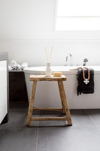 Wooden Stools | Bathroom Styling – MintSix