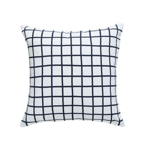 Grid Cushion | Slate