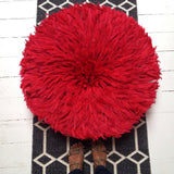 Large Red Bamileke Juju Hat