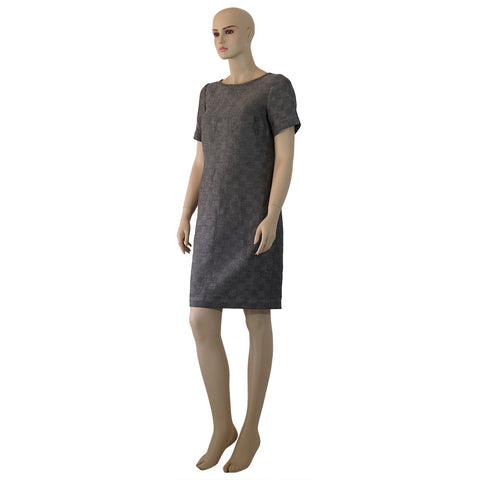Linen Shift Diamond Dress