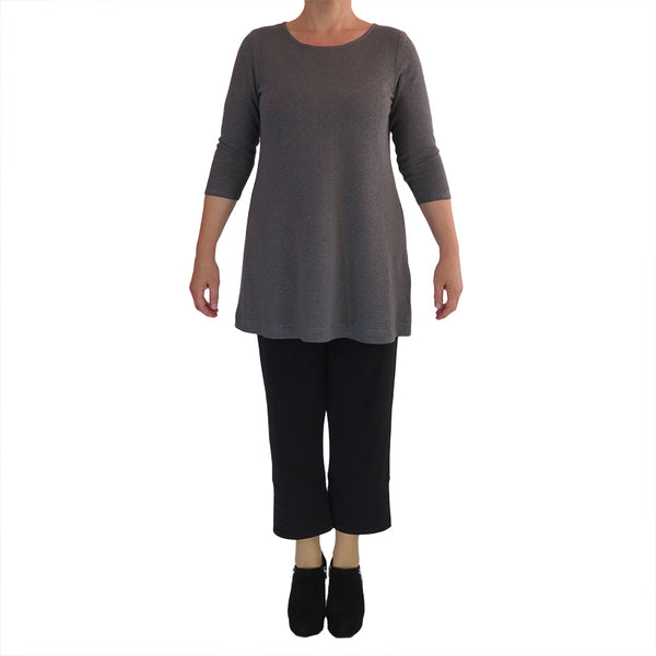 Zeega Hemp and Organic Cotton Tunic Gray Front