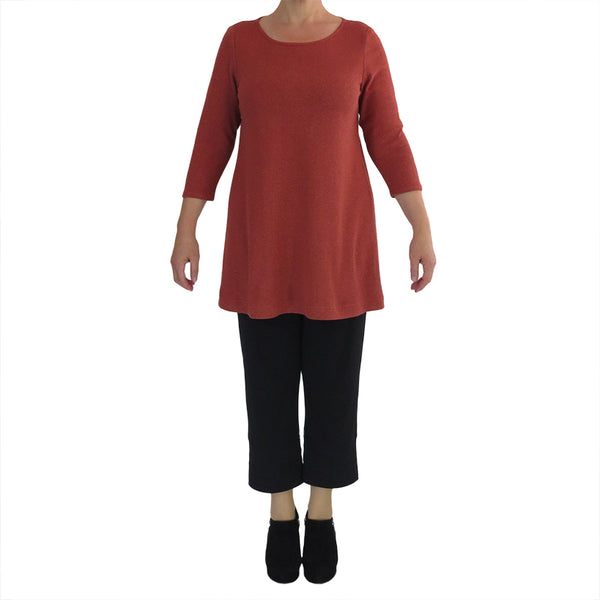 Zeega Hemp and Organic Cotton Tunic Rust Front