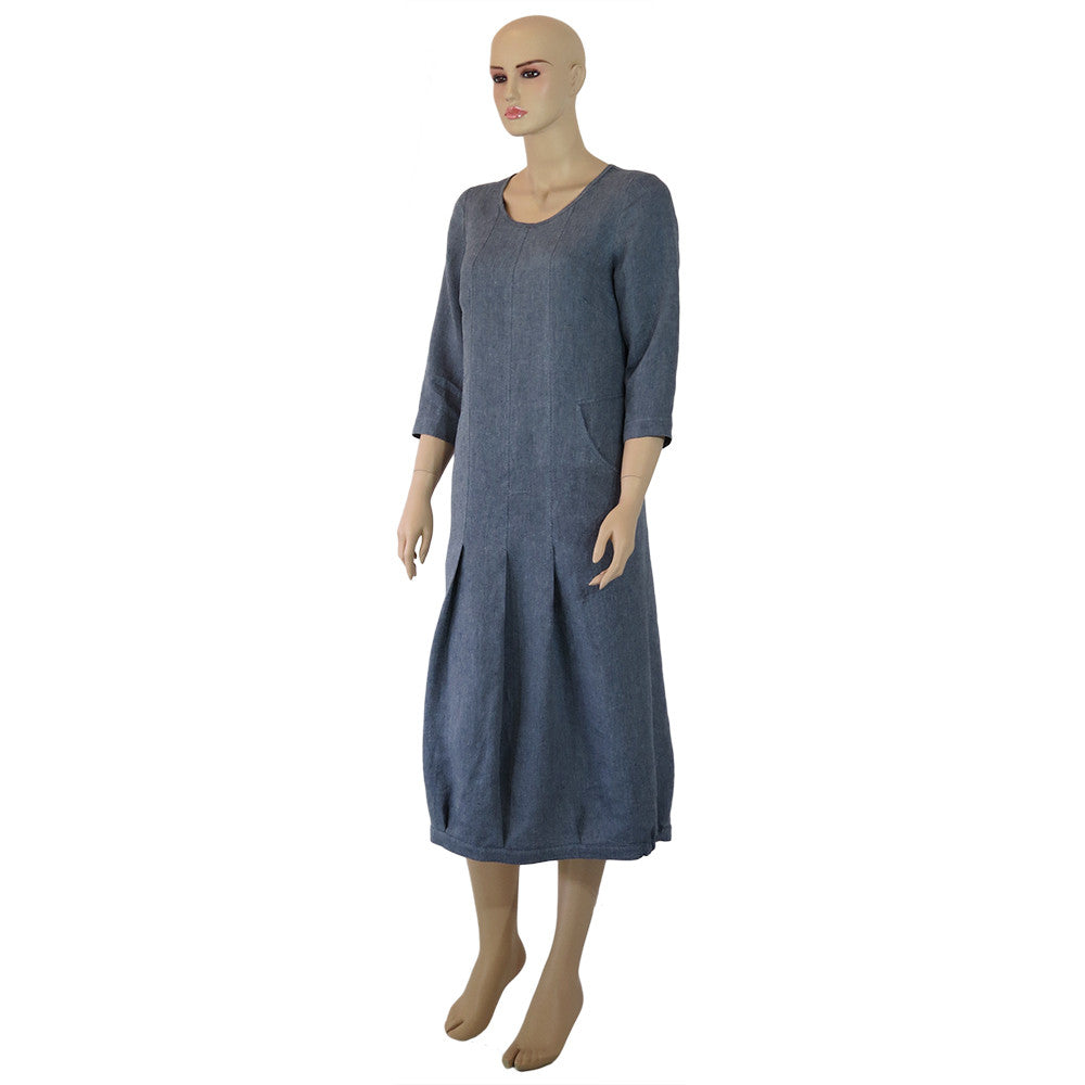 Linen French St Dress Front