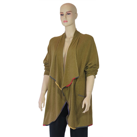 Hemp Knit Waterfall Jacket