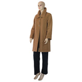 Camel Cashmere and Wool Coat Lined in Hemp and Silk