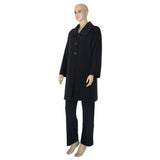 Charcoal Cashmere and Wool Coat Lined in Hemp and Silk