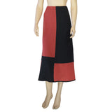 Zeega Red Geometric Hemp and Organic Knit Skirt Front