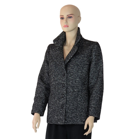 Cashmere Mohair Alpaca Blend Short Winter Coat