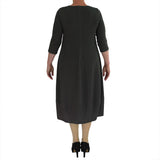 Zeega Z0084 Hemp and Organic Cotton Knit Tulip Dress Black Size 08 Back