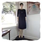 Zeega Z0084 Hemp and Organic Cotton Knit Tulip Dress Black Front