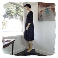 Zeega Z0084 Hemp and Organic Cotton Knit Tulip Dress Black Side
