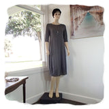 Zeega Z0084 Hemp and Organic Cotton Knit Tulip Dress Gray Front