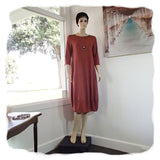 Zeega Z0084 Hemp and Organic Cotton Knit Tulip Dress Rust Front