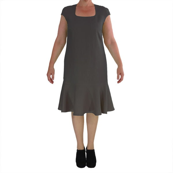 Linen Milly Dress - Ebony 08