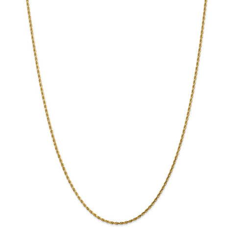 14k 1.75mm D/C Rope with Lobster Clasp Chain