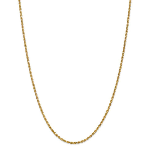 14k 2.25mm D/C Rope with Lobster Clasp Chain