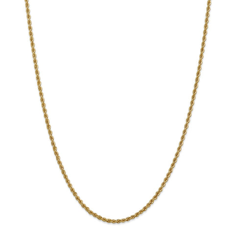 14k 2.5mm Handmade Regular Rope Chain