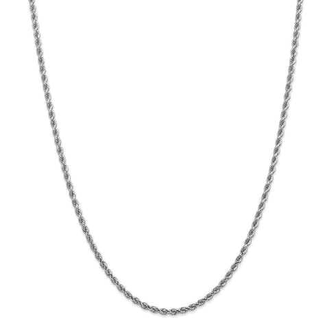 14k White Gold 2.75mm D/C Rope Chain