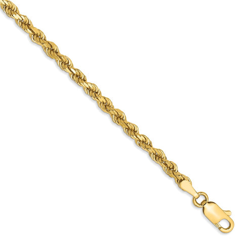 14k 3.2mm D/C Rope with Lobster Clasp Chain