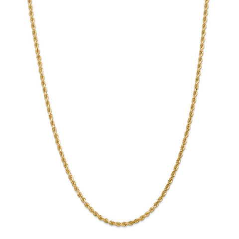 14k 3.20mm D/C Rope with Lobster Clasp Chain