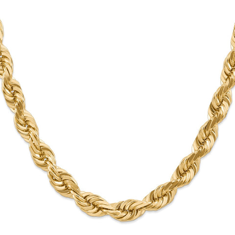 14k 10mm D/C Rope Chain