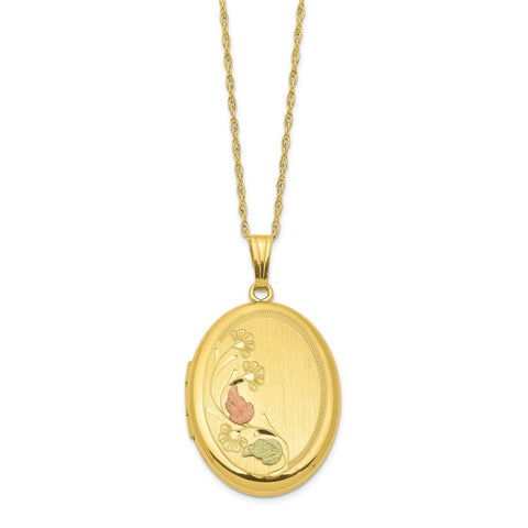 14k Gold-filled w/ 12k Accents Black Hills Locket