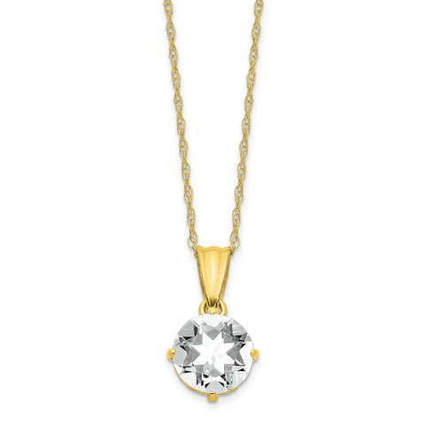 10K Tiara Collection Diamond Lab Created White Sapphire Necklace