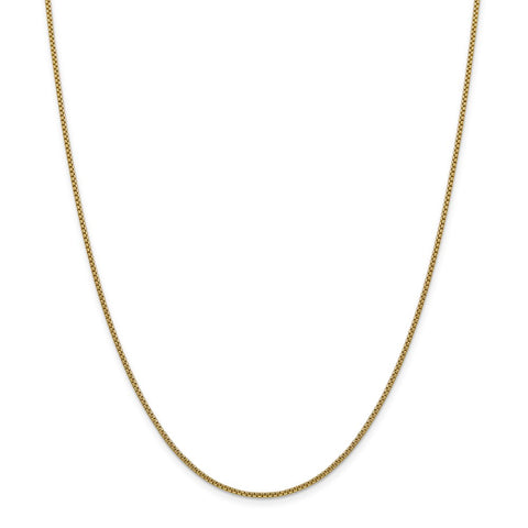 14k 1.5mm Hollow Round Box Chain