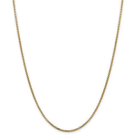 14k 1.75mm Hollow Round Box Chain