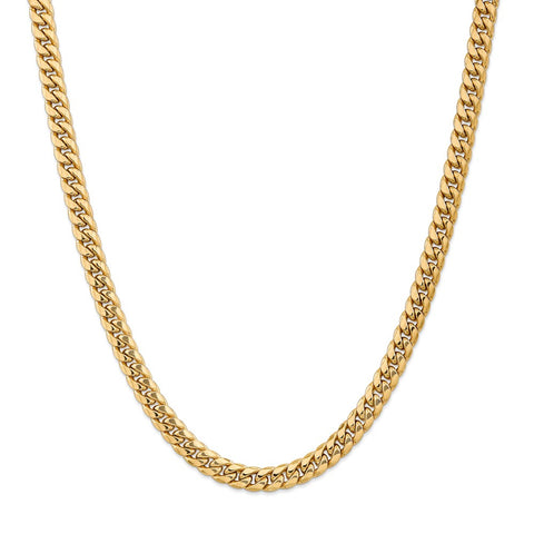 14k 7.3mm Semi-Solid Miami Cuban Chain