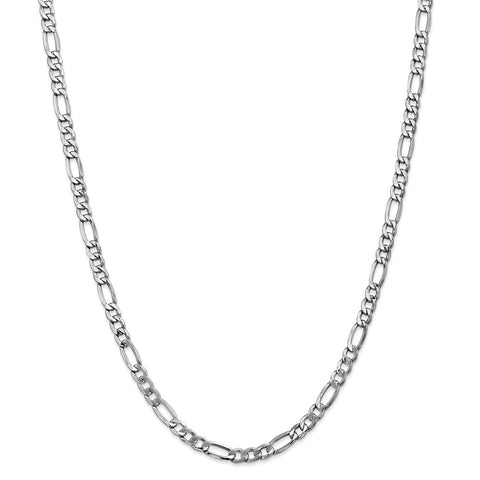 14k WG 5.35mm Semi-Solid Figaro Chain