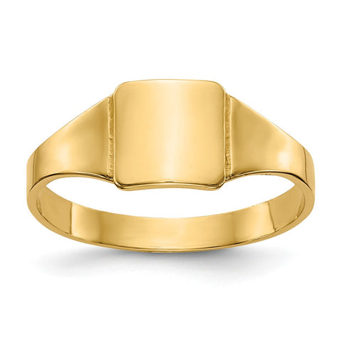 14k Square Signet Baby Ring