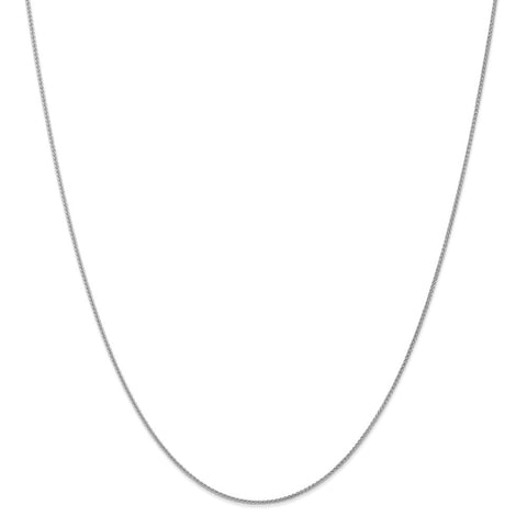 14k WG 1mm Spiga Pendant Chain