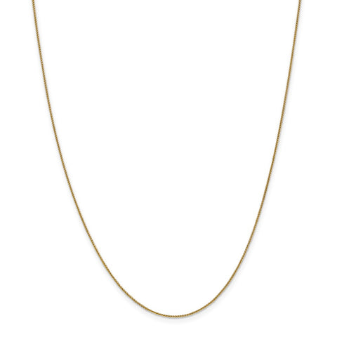 14k 0.80mm Spiga Pendant Chain