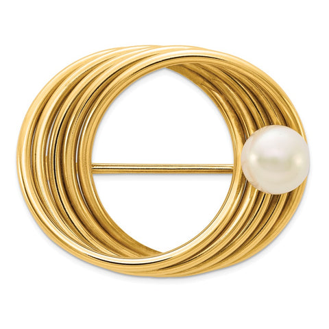 14k FW Cultured Pearl Pin