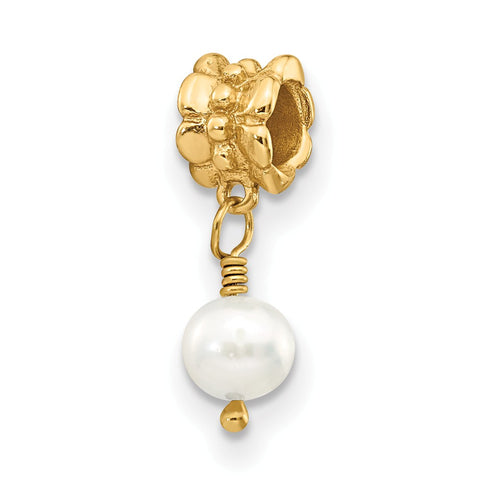 Sterling Silver GP Reflections FW Cultured Pearl Dangle Bead