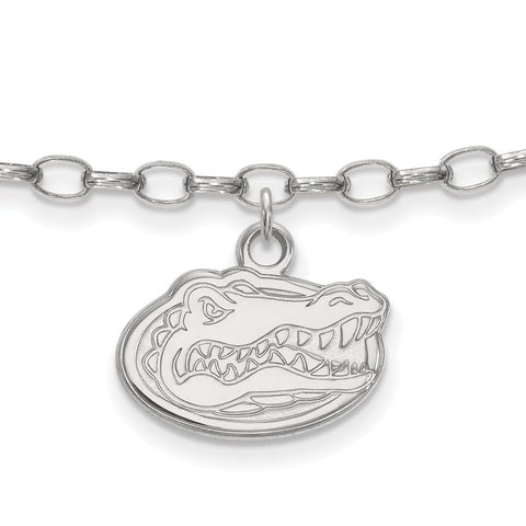 Sterling Silver Rh-plated LogoArt University of Florida Anklet