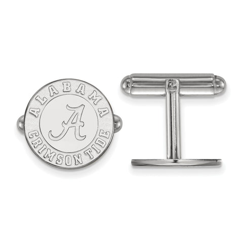 Sterling Silver Rh-plated LogoArt University of Alabama Cuff Link