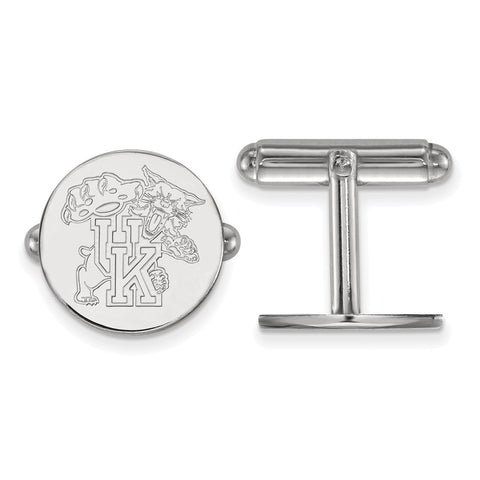 Sterling Silver Rh-plated LogoArt University of Kentucky Cuff Link