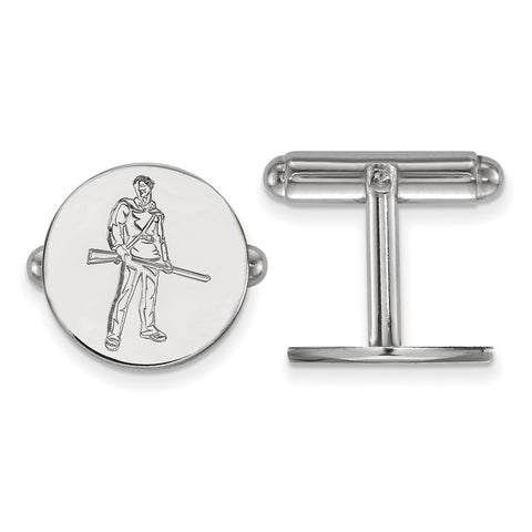 Sterling Silver Rh-plated LogoArt West Virginia University Cuff Link