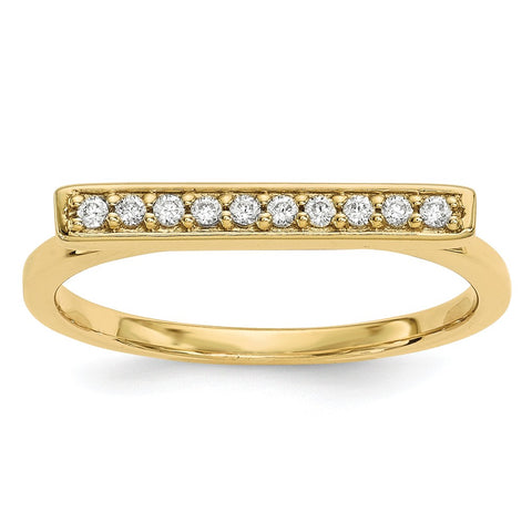 14k Diamond Bar Ring