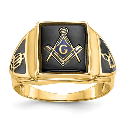 14k Men's Masonic Ring