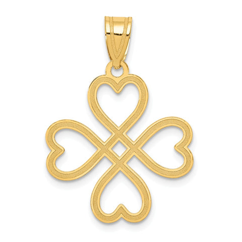 14k Laser Cut Cross Charm