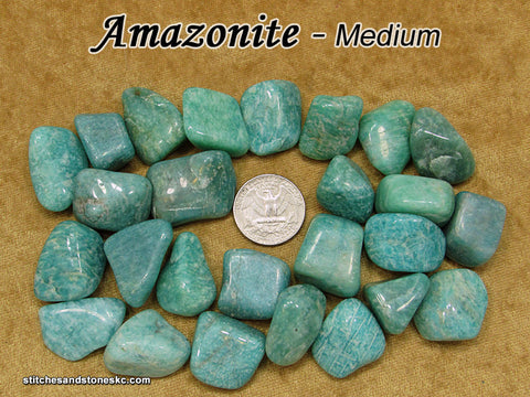 Amazonite tumbled stone — multiple sizes available